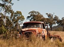 Australian outback rusty old farm truck Stock Photo