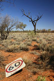 Australian Outback Speed Limit Stock Photography