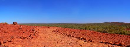 Australian Outback, viewed from Kata Tjuta. The vastness of the Red Centre, outback Australia, on a clear day royalty free stock images