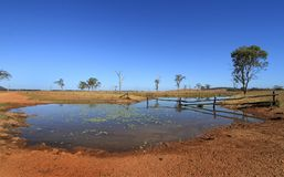 Australian outback water Royalty Free Stock Images