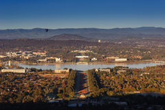 Australian Parliament House. In Canberra look out from Mount Ainslie Royalty Free Stock Images