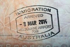 Australian Passport Stamp Royalty Free Stock Photography