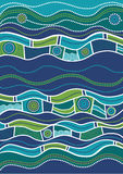 Australian pattern. Vector pattern including ethnic Australian motive with multicolored typical elements