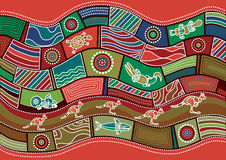Australian pattern Stock Images