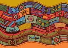 Australian pattern vector illustration