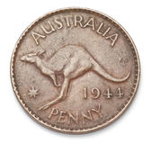 Australian Penny Royalty Free Stock Photography