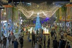 Australian people celebrate Christmas in Brisbane Queensland Australia stock photography