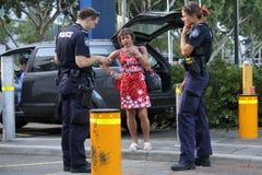Australian Police Officers in Brisbane, Australia stock photos