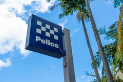 Australian police station sign in Sydney NSW Australia. Australian police station sign in Sydney New South Wales Australia stock photos