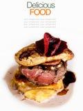 Australian premium fillet tenderloin steak with Fried foie gras. Stock Images