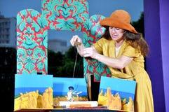 Australian Puppet Show Royalty Free Stock Image