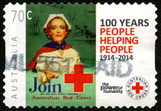 Australian Red Cross Postage Stamp Stock Image