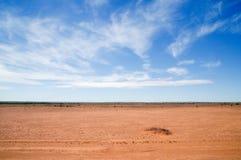 Australian red desert Stock Image