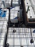 Australian residential footing slab construction incorporating polystyrene waffle pod design royalty free stock photos