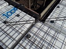 Australian residential footing slab construction incorporating polystyrene waffle pod design royalty free stock photography