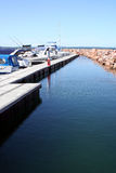 Australian Resort Marina. Boats at a Resort Marina at Port Stephens. Australia Stock Images