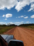 Australian road. The legendary Gibb River Road, a 660 km dirt track right through the wild heart of the Kimberley, is one of the best known road in the North Stock Image