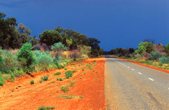 Australian road Stock Images