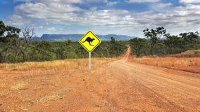 Australian road sign North Queensland Stock Images