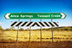 Australian Road Sign Stock Photography