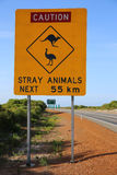 Australian Road Sign Royalty Free Stock Image