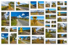 Australian road signs Royalty Free Stock Photo
