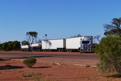 An Australian road train Stock Images