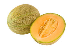 Australian rockmelon. Isolated on white background Stock Photo