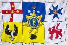 Australian Royal Flag stock photos