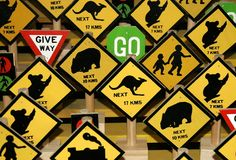 Australian rules. Picture taken in shop in Australia Royalty Free Stock Photo