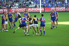 Australian rules football Stock Photos