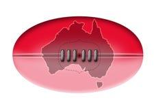 Australian Rules football map  Royalty Free Stock Photography