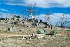 Australian rural property cattle grid entrance gate Royalty Free Stock Image