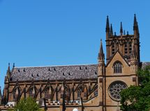 The Australian Saint Mary cathedral Stock Photography