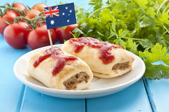 Australian Sausage Roll Food stock images