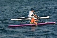 Australian sea kayaking in Gold Coast Queensland Australia Stock Photos