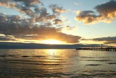 Australian sea sunset Royalty Free Stock Photos