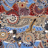Australian seamless pattern. With animals royalty free illustration