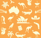 Australian seamless pattern Royalty Free Stock Image