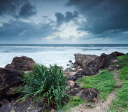 Australian seascape in the evening Stock Photos