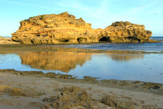 Australian seascape and rocky cliff Royalty Free Stock Images