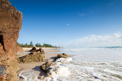 Australian seascape with rushing wave Stock Images