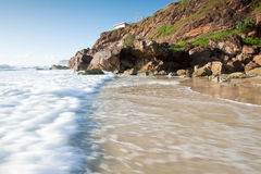 Australian seascape with rushing wave Stock Photography