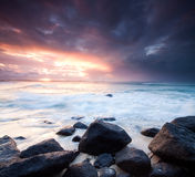 Australian seascape during the twilight Stock Images