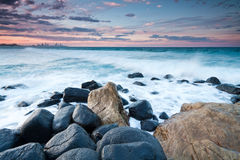 Australian seascape during the twilight Royalty Free Stock Photos