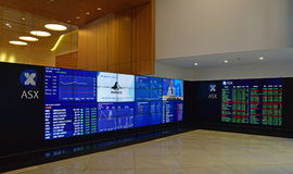 Australian Securities Exchange Limited is an Australian public company operating the country`s primary securities exchange Stock Images