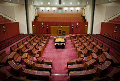 Australian Senate. The Australian Senate in Parliament House, Canberra, Australian Capital Territory, Australia royalty free stock photos