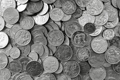 Australian Silver Coins Stock Images