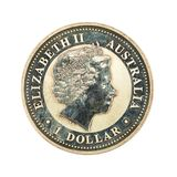 1 australian silver dollar coin 1999 reverse stock photos