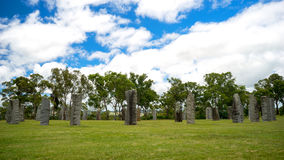 Australian Standing Stones. A landscape view of the Australian Standing Stones located at Glen Innes in New South Wales in Australia. It is one of the Royalty Free Stock Images